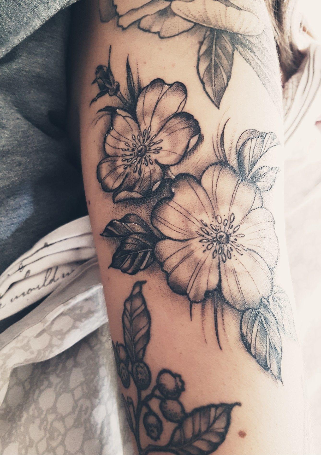 Wild Rose Tattoo Wild Rose Tattoo Flower Tattoo Rose Drawing Tattoo