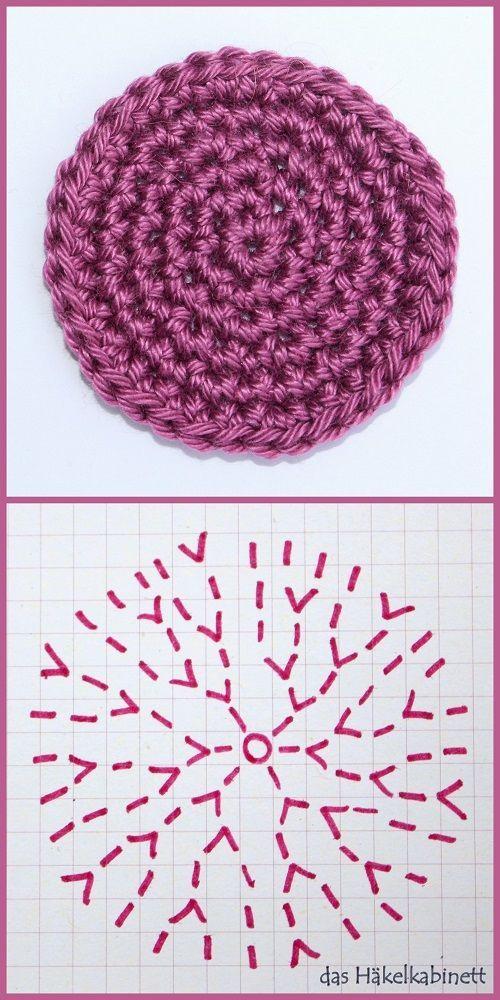 So häkelst du einen Kreis #crochetstitchestutorial