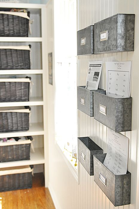 Metal Storage Bins For Paperwork Storage. Perfect To Hang Next To Your Desk  To Keep It Free Of Clutter