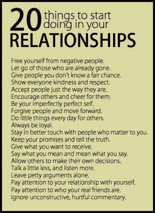20 things to start doing in your relationships so true 20 things to start doing in your relationships solutioingenieria Images