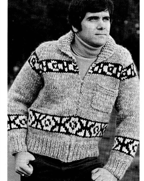 ea0d1b01d Chinook Cowichan Bomber Jacket Knitting Pattern on Etsy