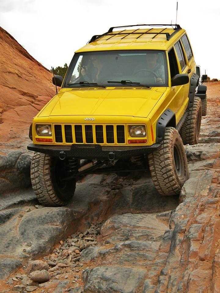 Pretty Lifted Yellow Jeep Xj Cherokee Jeep Xj Jeep Jeep Suv