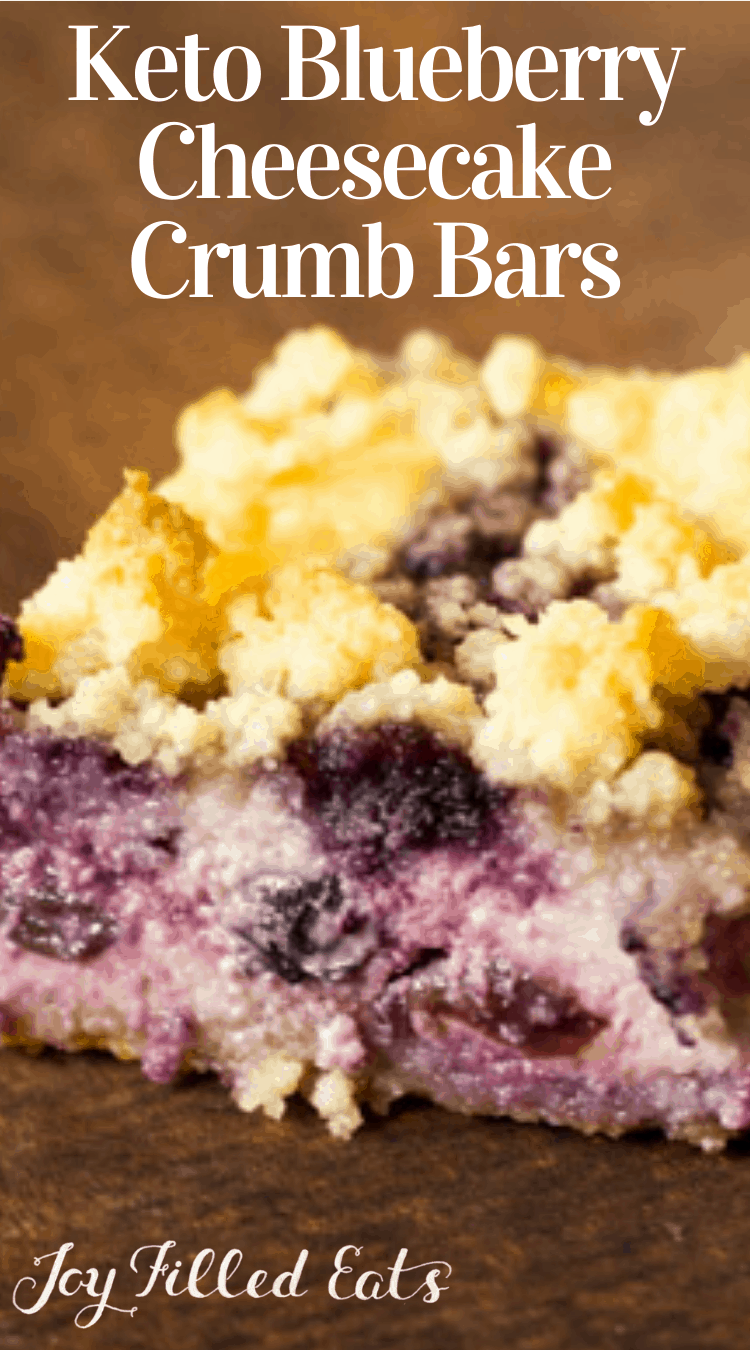 Lemon Blueberry Cheesecake Crumb Bars. Low carb, THM S.