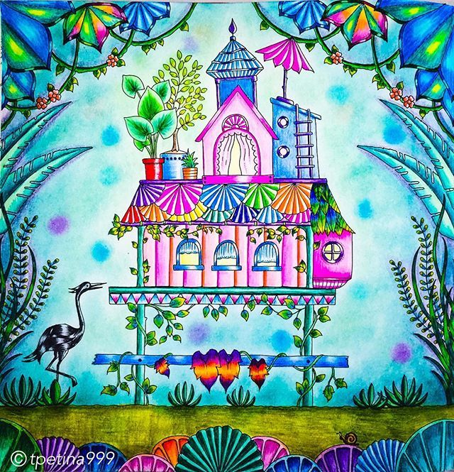 Inspirational Coloring Pages by @tpetina999 #coloringbook #johannabasford #livrodecolorir #enchantedforest #secretgarden #magicaljungle #adultcoloringbook