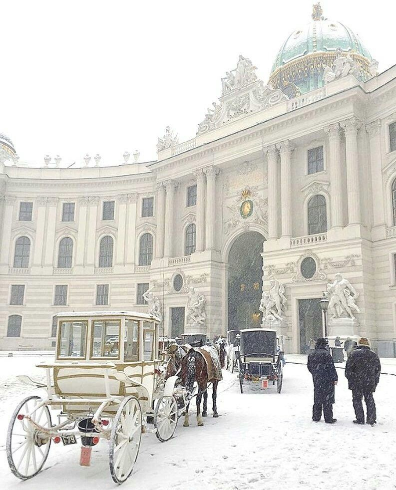 Snowy Hofburg In Vienna Cool Places To Visit