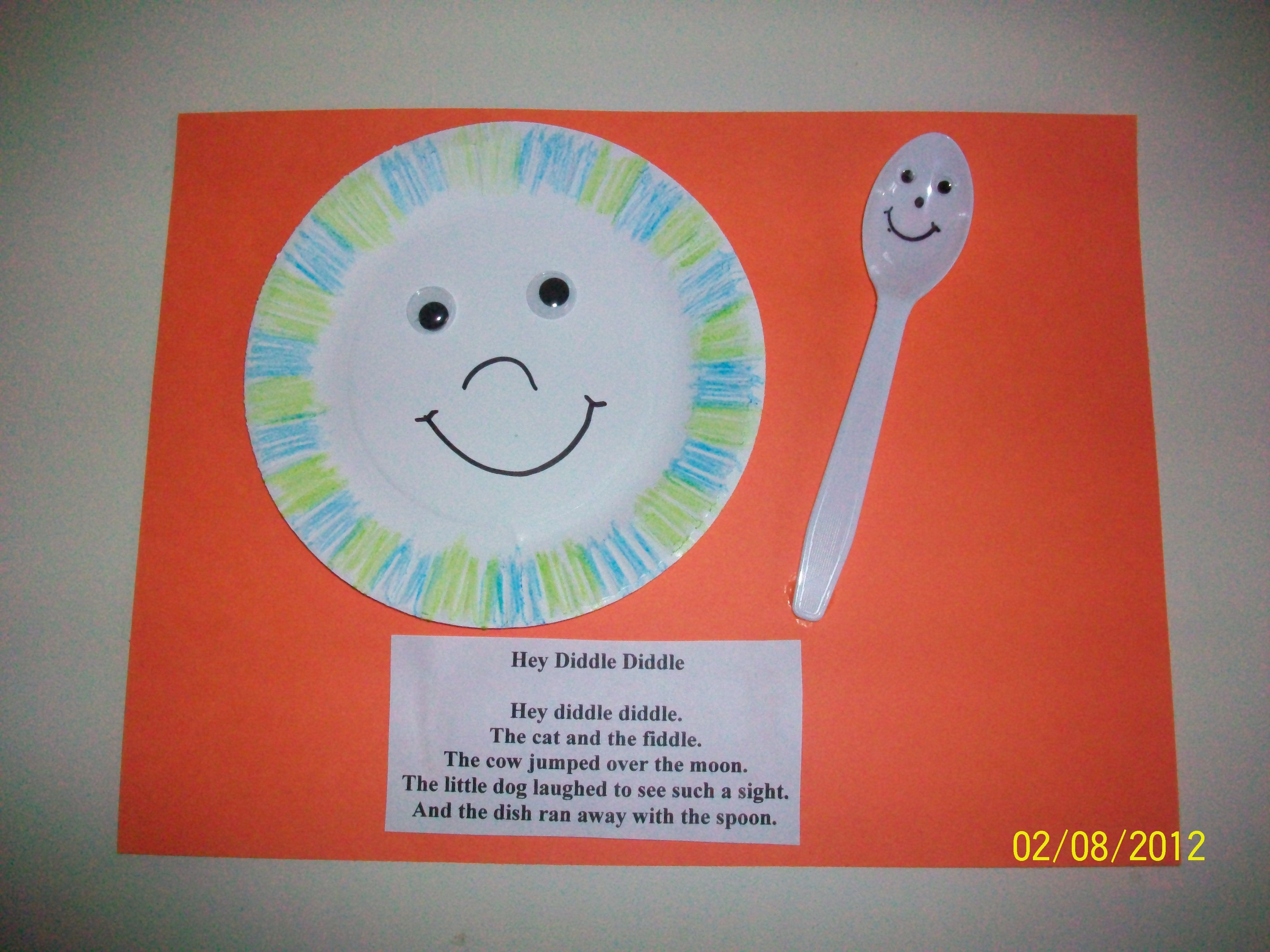 hey diddle diddle nursery rhyme craft class re creations