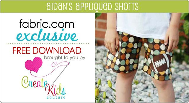 Aidan\'s appliqued shorts pattern FREE pattern download exclusively ...