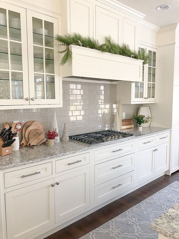 49 Fancy White Kitchen Design And Decor Ideas That Looks Cool White Kitchen Design Off White Kitchens Interior Design Kitchen