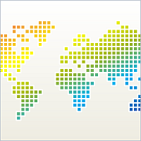 Free pixel world map for powerpoint powerpoint maps pinterest free pixel world map for powerpoint gumiabroncs Images