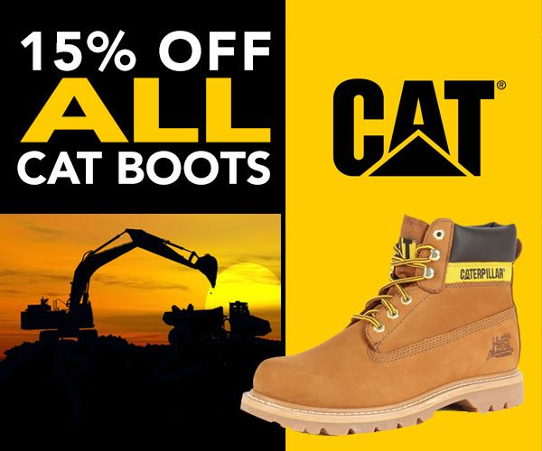 Get 15% off all CAT/Caterpillar boots at www.workbootworld.com. Includes all regular and clearance priced boots. Offer valid until Wednesday, July 29th, 2015. Must use promo code: WBWCATNHAT15