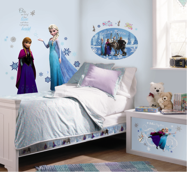 elsa anna frozen themed bedroom congelado