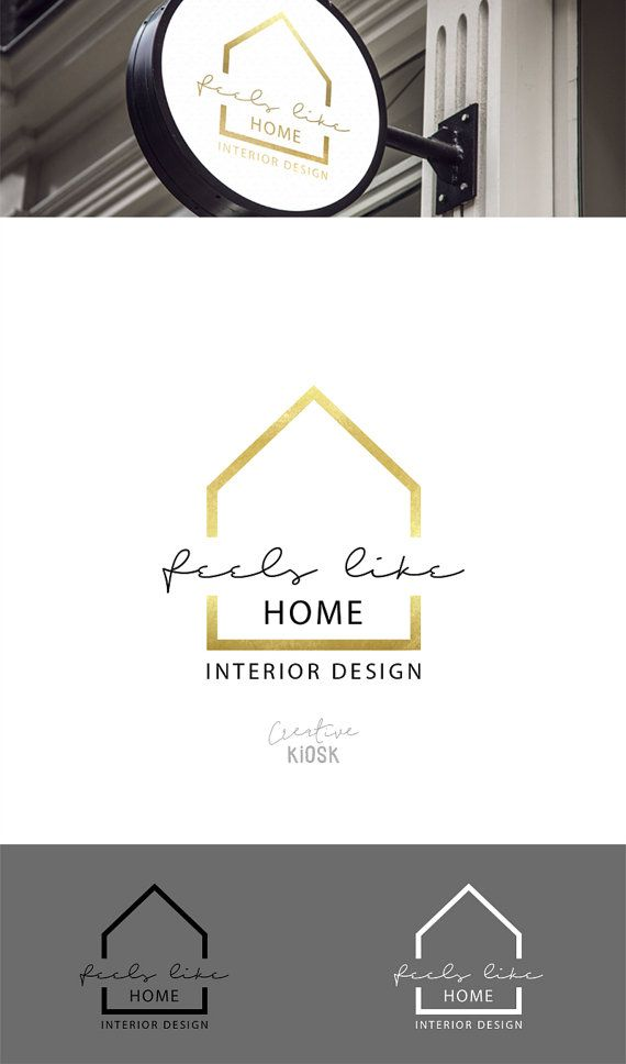 Real Estate Business Logo Interior Design Modern Realtor Simple House DIY Branding Editable PSD Template 0572