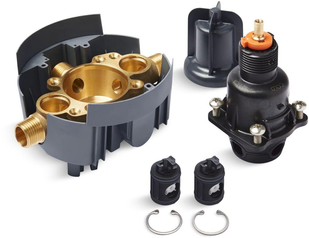 Kohler Triton 2 Handle Wall Mount Valve Trim Kit With Push Button