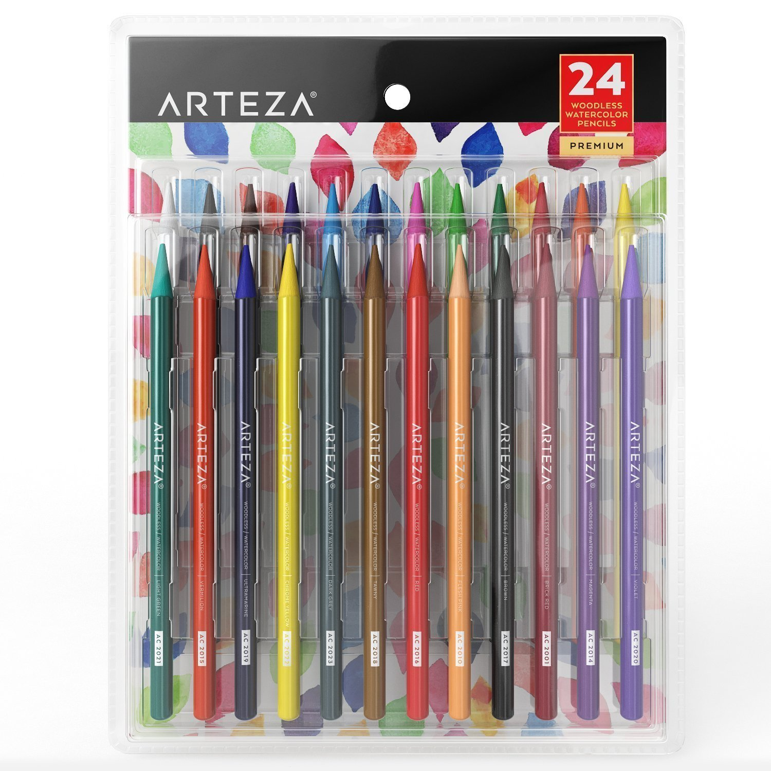 Woodless Watercolor Pencils Set Of 24 Pencil Drawings Pencil