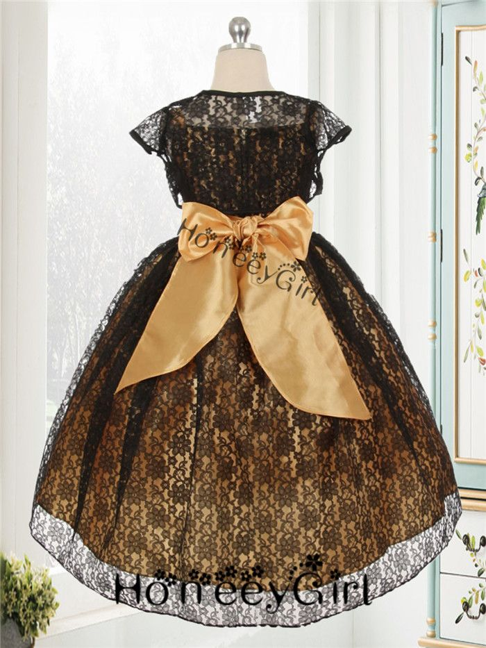 Gold Party Dress for Girls