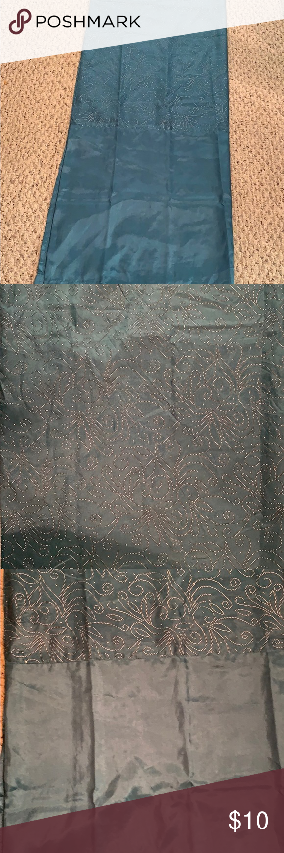 Comfort Bay Nwot Textured Shower Curtain Turquoise Background