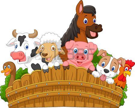 Coleccion De Animales De Granja De Dibujos Animados Animales De La Granja Animales De Granja Animados Dibujos De Animales Tiernos