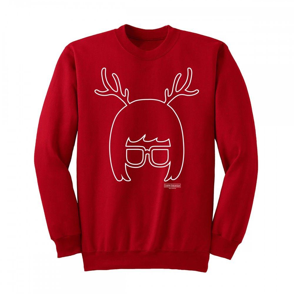 Bobs Burgers Tina Reindeer Silhouette Sweatshirt I Want This So