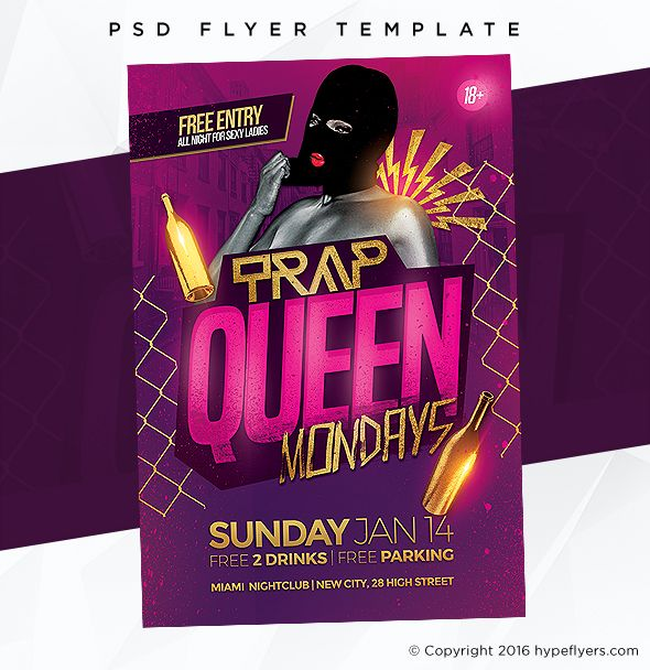 Trap Queen Party Flyer Party Flyer Trap Queen And Event Template