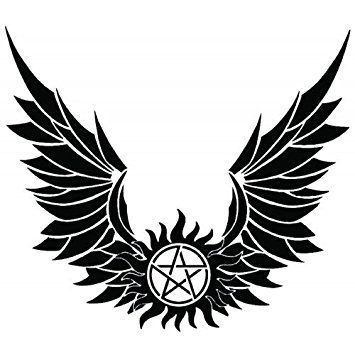 Supernatural Devils Trap Anti Possession Wings Symbol Sigil Vinyl