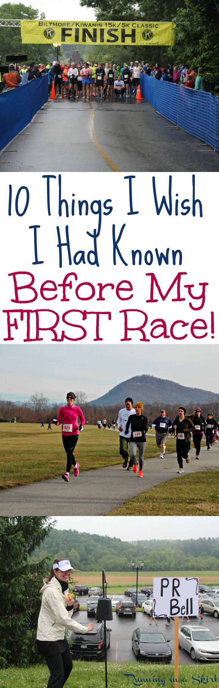 10 Things I Wish I Had Known Before My First Race!  Motivation for beginners or those who need some inspiration to get back on the road.  Great running, training and racing tips to inspire you to start to run your first 5K, 10K or half marathon race or remember the magic of your first miles. / Running in a Skirt