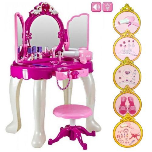 wholesale dealer 25717 feee7 Details about CHILDREN GIRLS TOY DRESSING ROLE PLAY TABLE ...