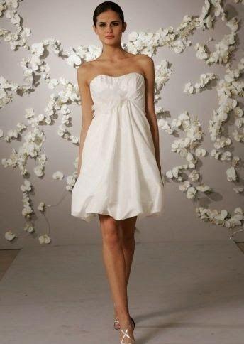 QueUsar.com  Vestido de Novia Corto con Falda Tipo Globo  6e2cd6a45c92