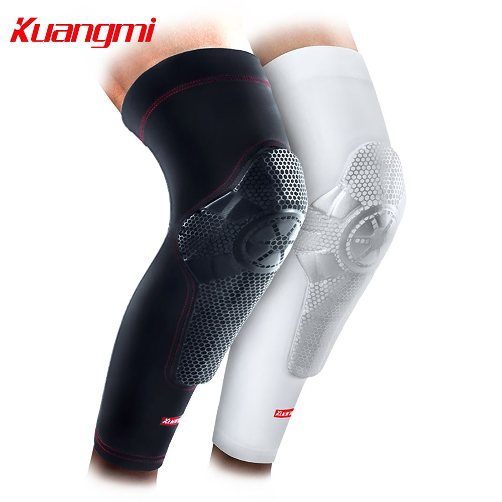 ffc1cdf2c7 Kuangmi Super-Wrapped Knee Pad for Basketball Sports Knee Support  Basketball Rodilleras Knee Brace Leg Calf Sleeve Compression