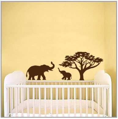 Elephants mom baby Vinyl Wall Art Decal by 7decals on Etsy, $24.99 ...