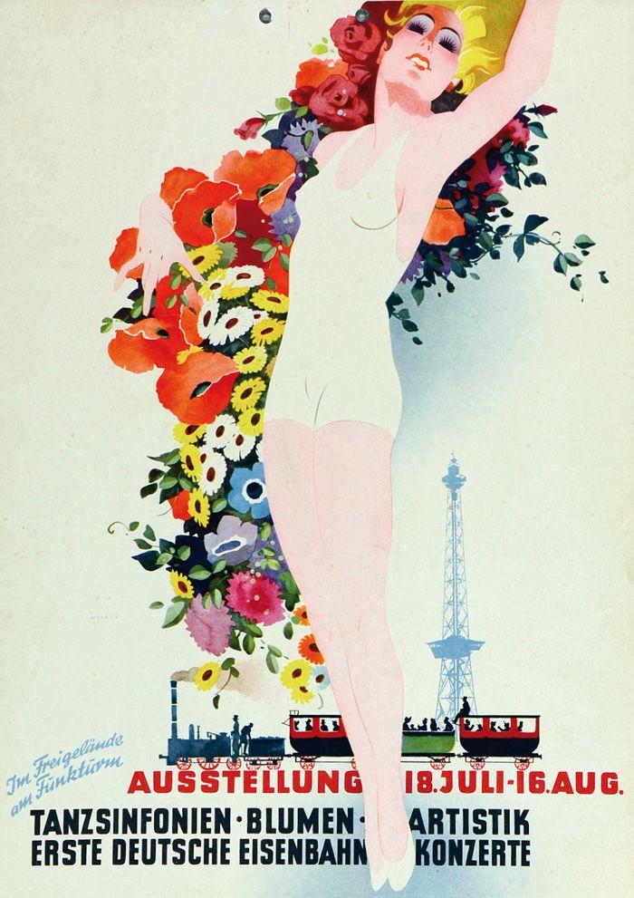 Jupp Wiertz, Ausstellung Tanzsinfonien, Blumen, Artistik, Erste Deutsche Eisenbahnkonzerte. Um 1910. Nosbüsch & Stucke Auktion