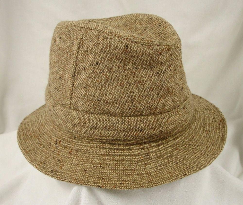 Jonathan Richard Ireland Irish Walking Hat Beige Tweed Wool Bucket 6 7 8 56   JonathanRichards  BucketHat a932bd9572d