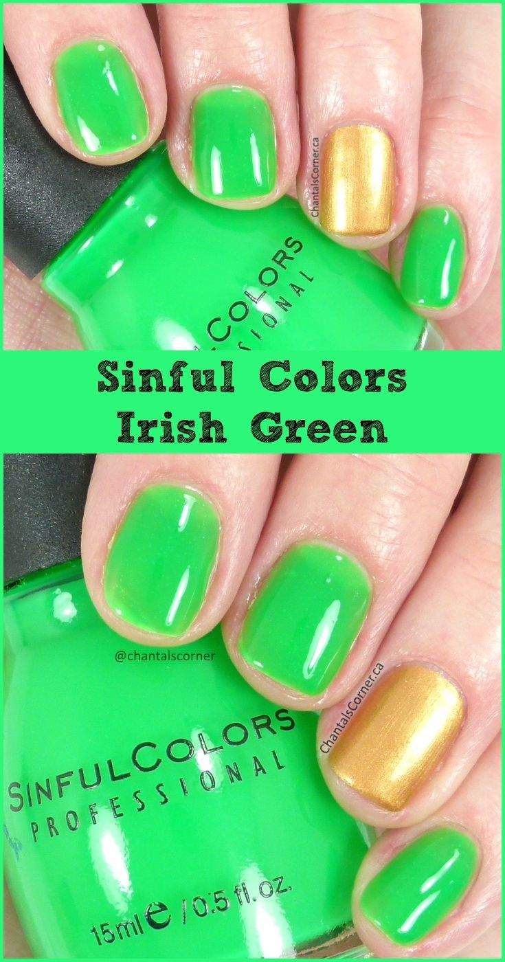 Sinful Colors Nail Polish in Irish Green - Swatches and Review ...