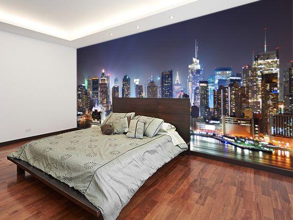 New York Manhattan Skyline At Night