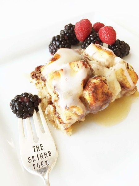 Skinny Cinnamon Roll French Toast Bake - Start Your Day Out Right With these Low-Calorie Breakfast Ideas - Photos