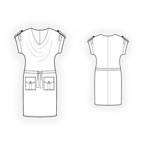 4136 Knit dress - Robe > Lekala