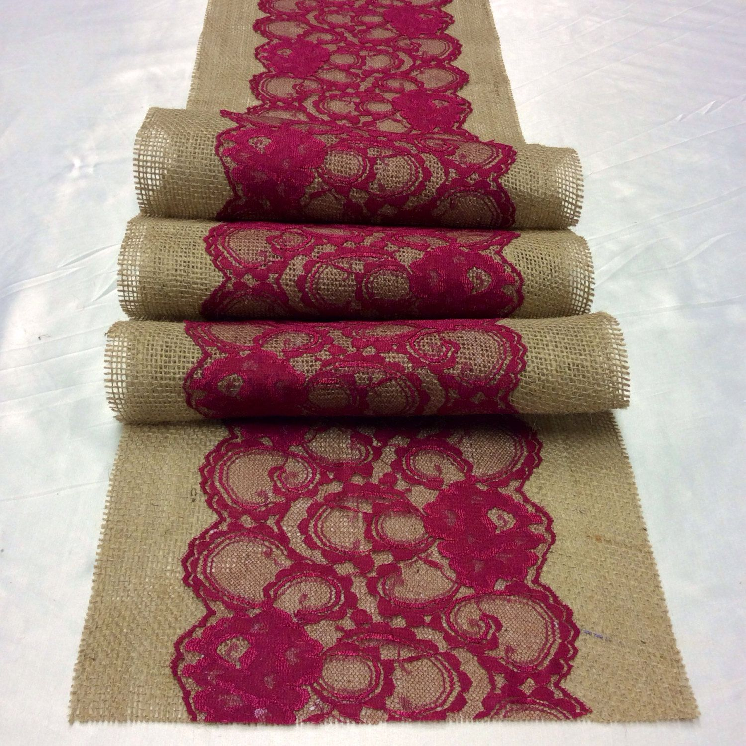 Burgundy Lace Table Runners | Request A Custom Order And Have Something  Made Just For You