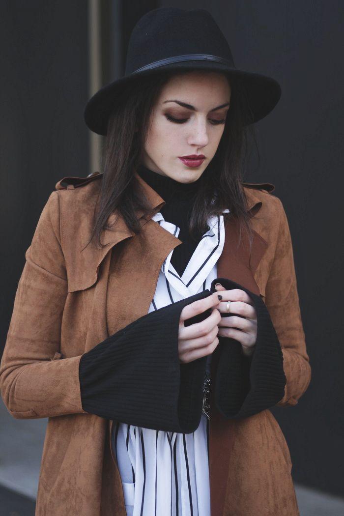 Herbstoutfit mit Hut