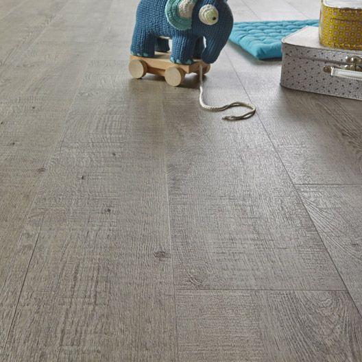 Lame PVC clic REVELATION Cottage, gris revêtement sol Pinterest - dalle de sol chambre
