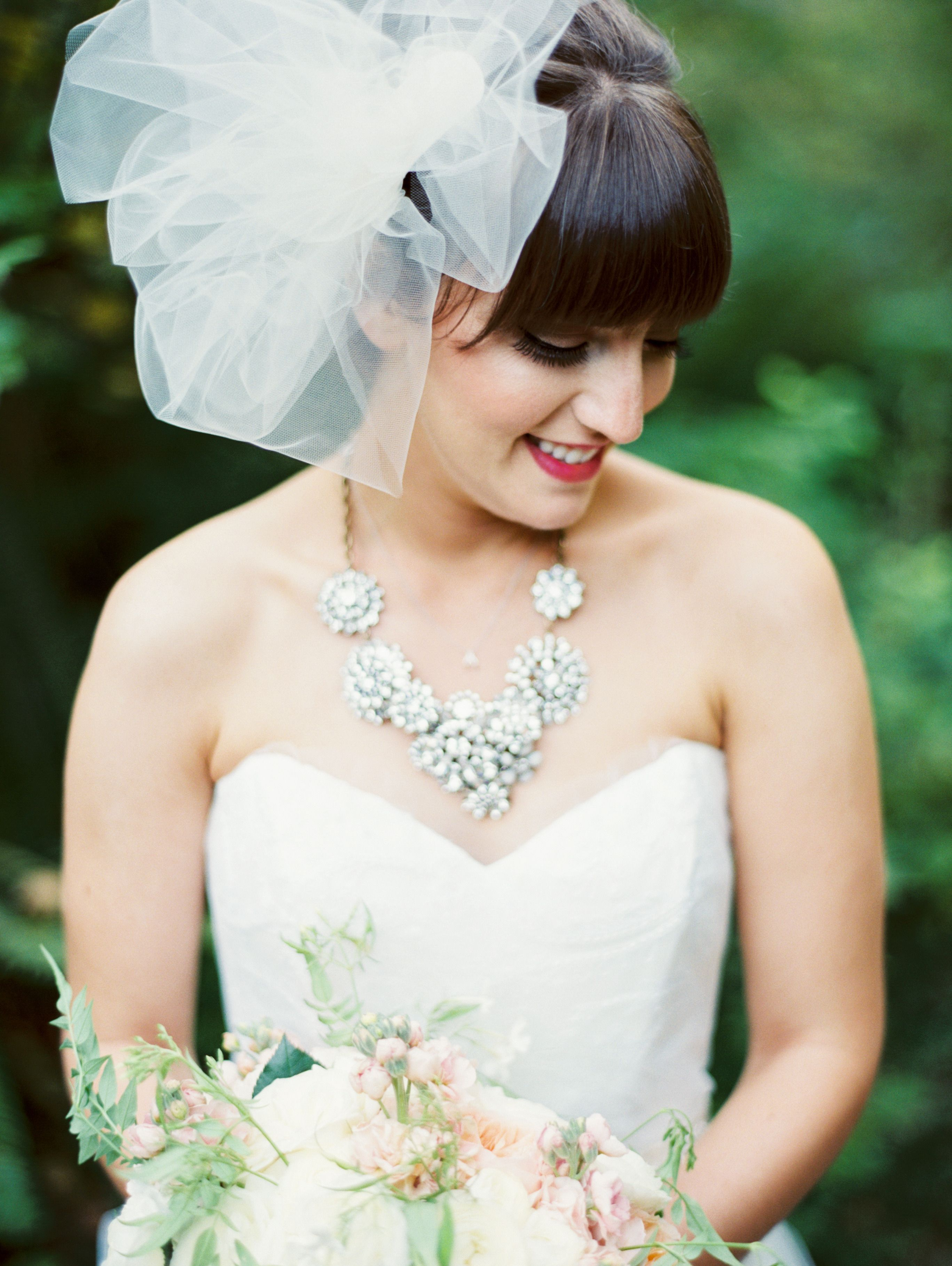 Rustic Goes Glam in the Prettiest Forest Wedding Ever | Veil, Forest ...