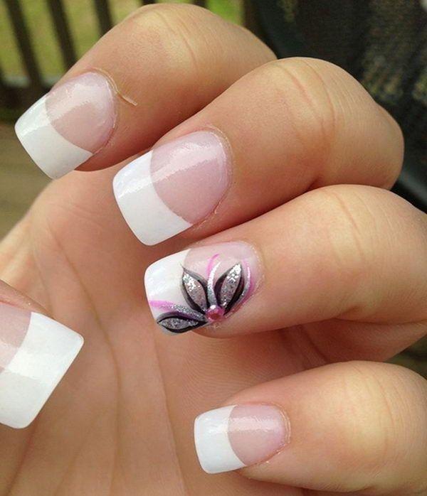 44 Lovely Flower Nail Art Design | Flower nail art, Flower nails and ...