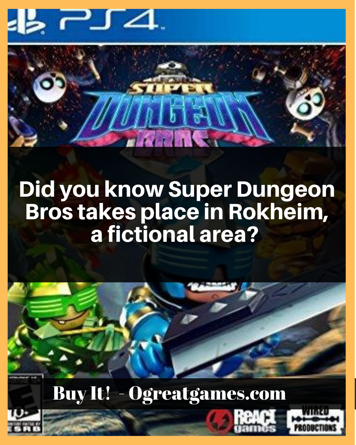 Super Dungeon Bros PlayStation 4 Playstation, Terms of