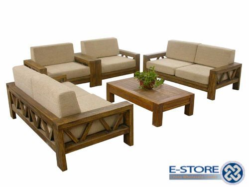 Teak Wood New Model Wooden Sofa Set