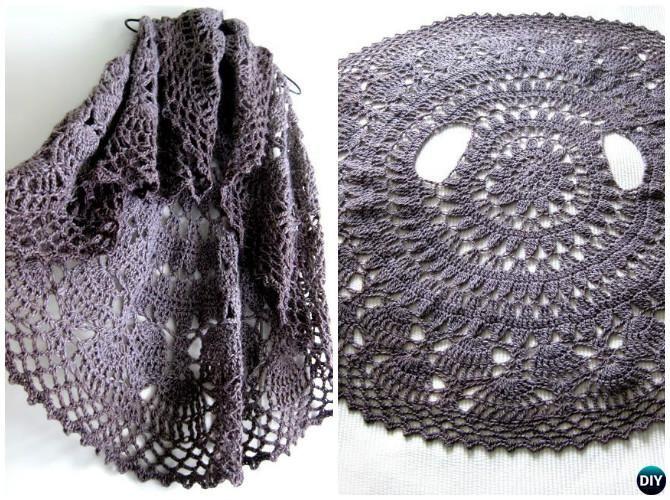 DIY Crochet Circular Vest Sweater Jacket Free Patterns | Ganchillo ...