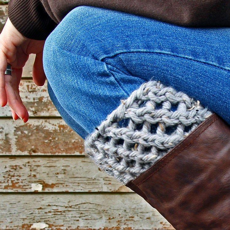 Thoughtful Boot Cuff Knitting Pattern