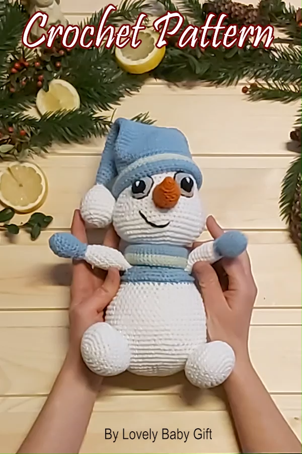 Photo of Crochet Snowman Pattern Amigurumi