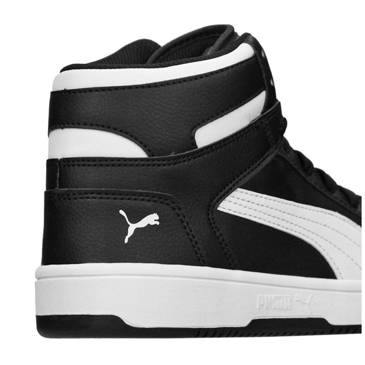 Puma Rebound Layup Sneakers Jr 370486 01 Shoes Black Junior Shoes Kid Shoes Black Shoes