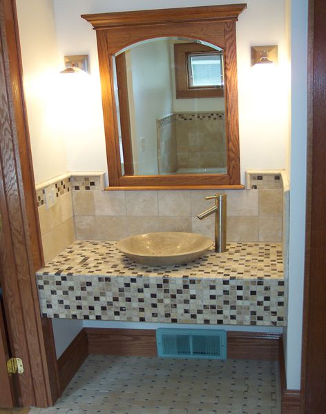 Vessel Sink Bathroom Remodel - Ohana Construction Inc - Minneapolis - Vessel Sinks Bathroom