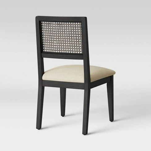Kelly Cane Dining Chair Black Beige Threshold Dining Chairs