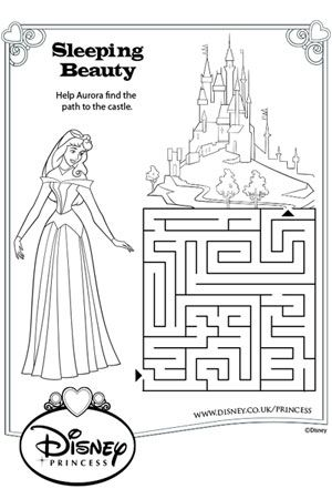 Aurora Maze disney princess colouring pages Pinterest Disney - copy coloring pages princess sleeping beauty