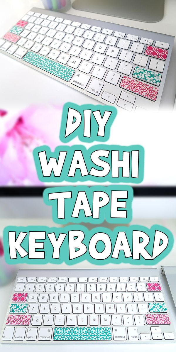 Diy Washi Tape Keyboard Washi Tape Keyboard Diy Washi Tape